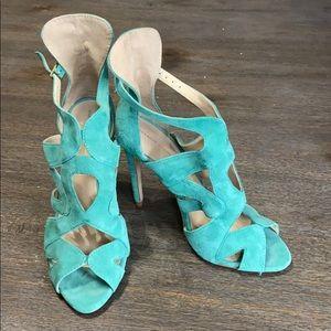 Zara Suede Caged Ankle Strap Sandal